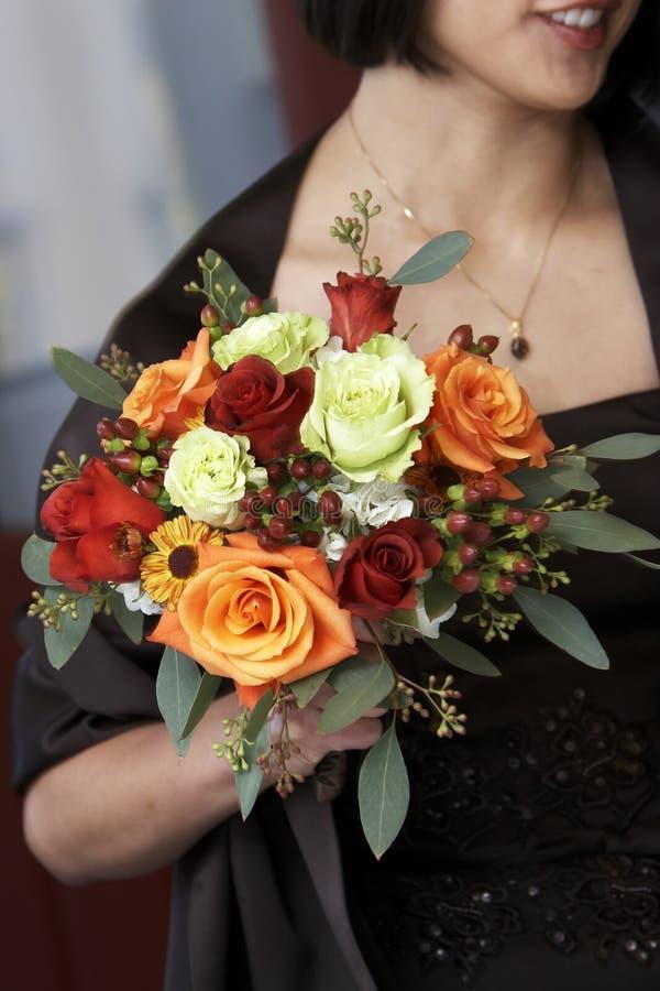 Flores de la criada de las novias fotografía de archivo