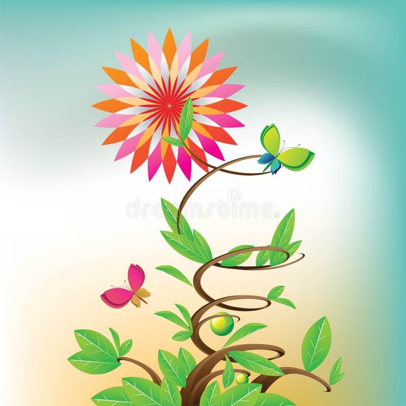 Flores de la estrella ilustración del vector