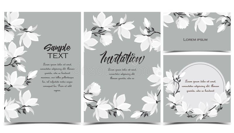 Flores de la magnolia del vector stock de ilustración