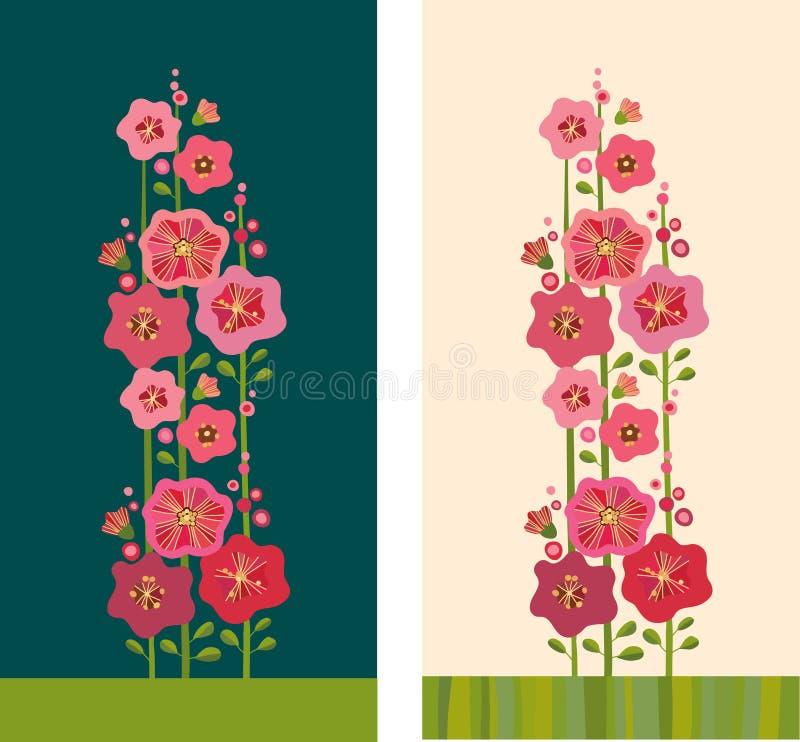 Flores de la malva libre illustration