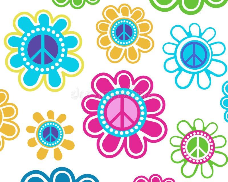 Flores de la paz ilustración del vector