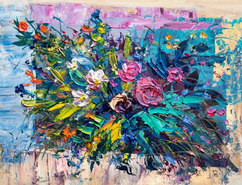 Flores de la pintura al óleo libre illustration