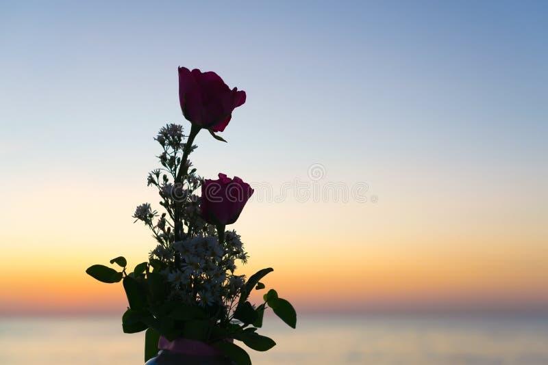 flores de la silueta fotos de archivo