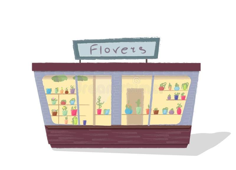 Flores de la tienda, vector stock de ilustración