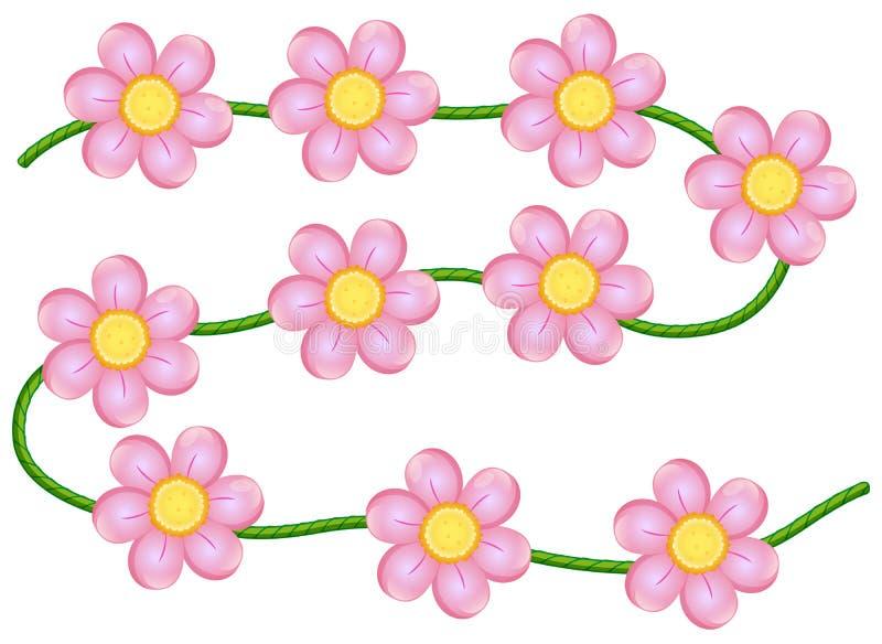 Flores de la vid stock de ilustración