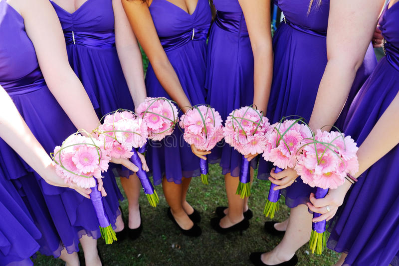 Flores de las damas de honor imagen de archivo libre de regalías