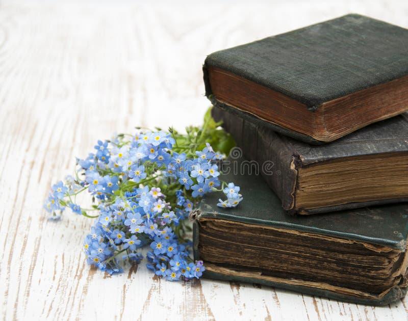 Download Flores De Las Nomeolvides Y Libros Viejos Foto de archivo - Imagen de azul, histórico: 42433674