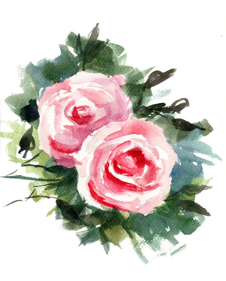 Flores de las rosas stock de ilustración
