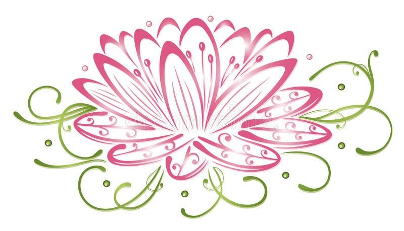 Flores de Lotus ilustração stock