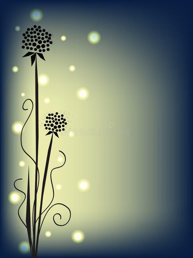 Flores de noche stock de ilustración