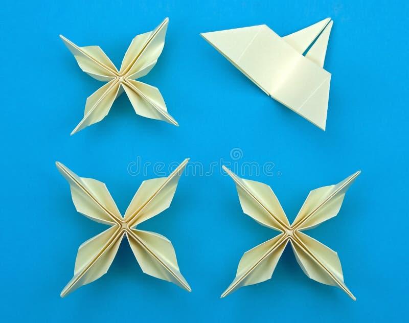 Flores de Origami imagem de stock royalty free
