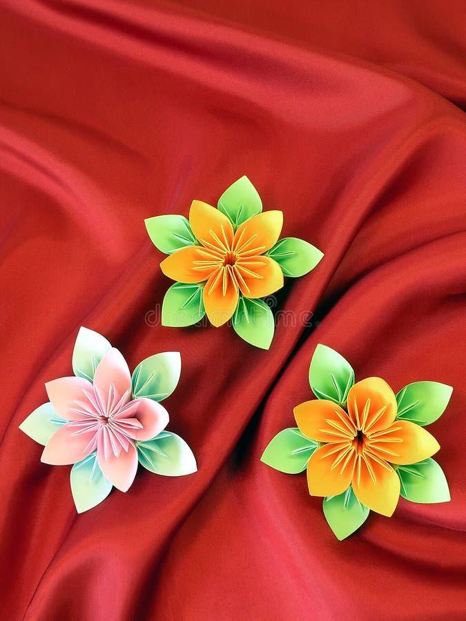 Flores de Origami imagem de stock