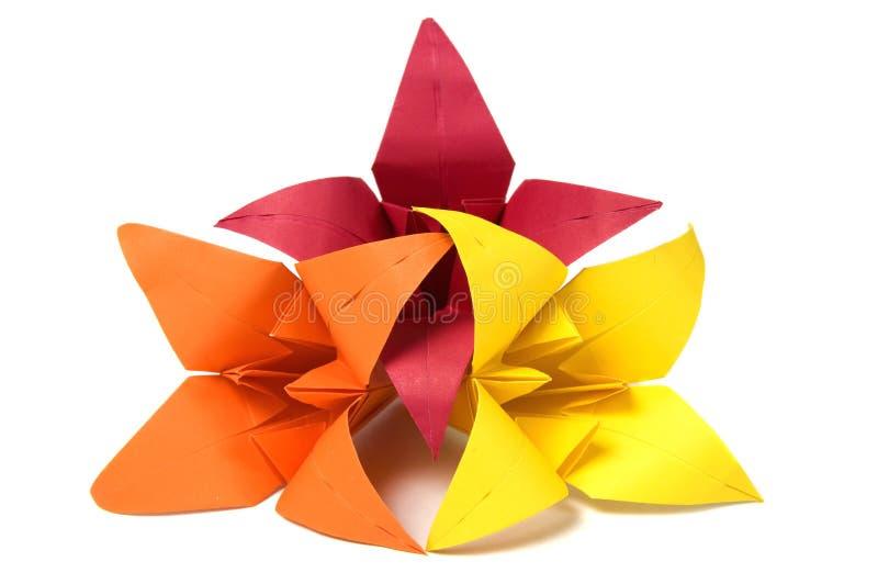 Download Flores de Origami foto de stock. Imagem de jogo, folha - 16864492