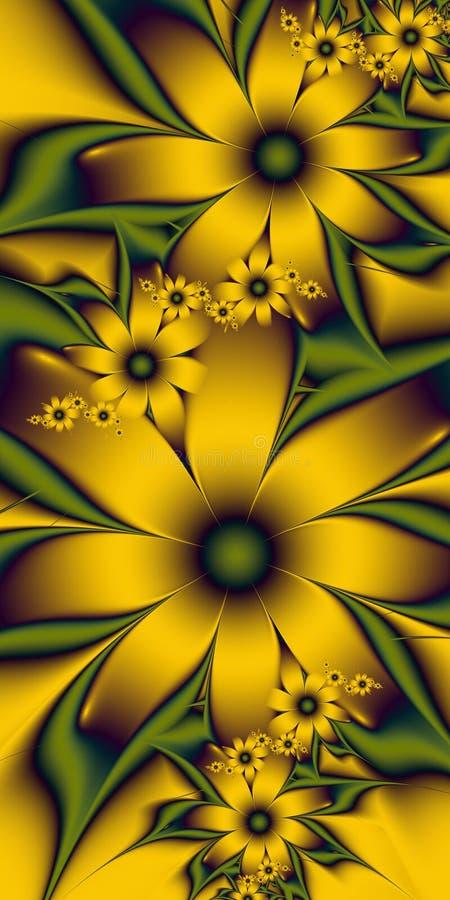 Flores de oro fotos de archivo libres de regalías