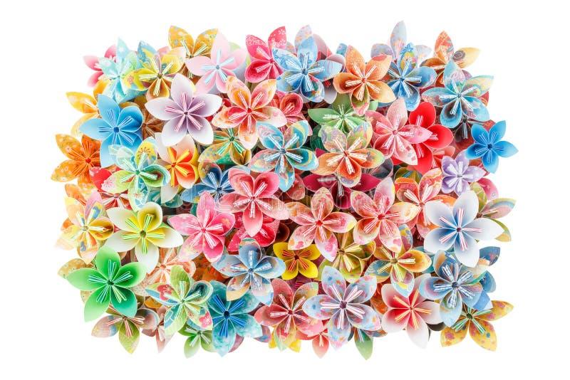 Flores de papel fotografia de stock royalty free