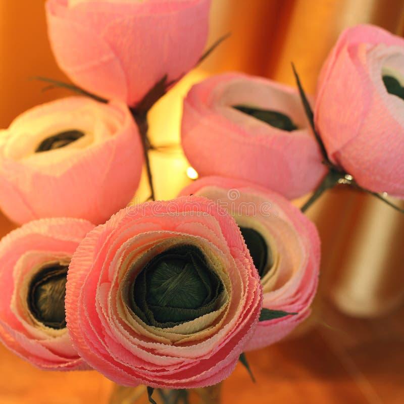 Flores de papel Flores Handmade fotografia de stock