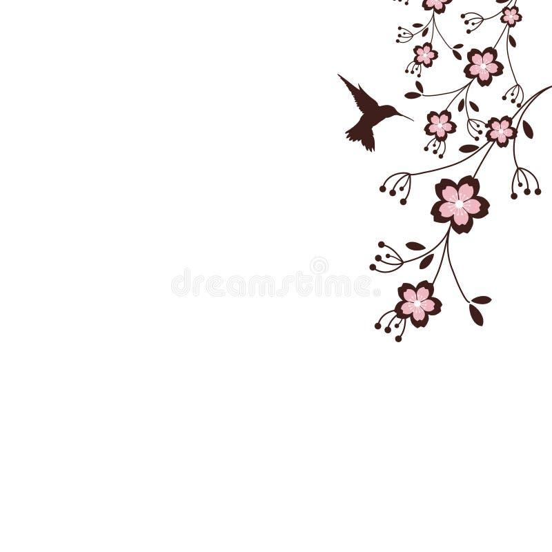 Flores de Sakura ilustração royalty free