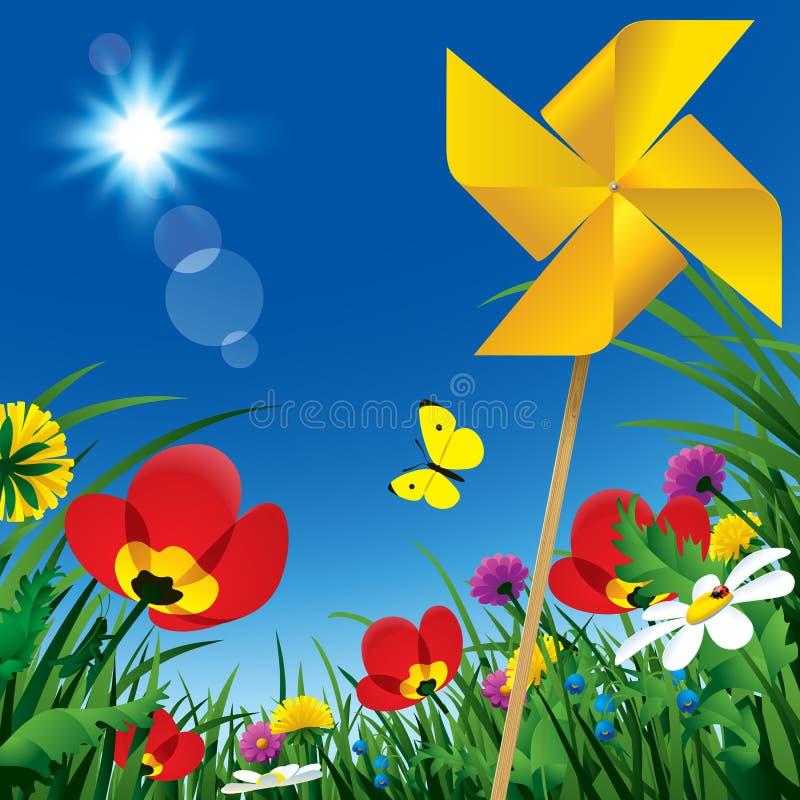 Flores de Sammer ilustração stock