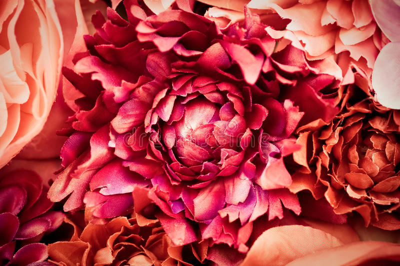 Flores de seda fotos de archivo libres de regalías