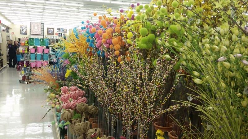 Flores de seda coloridas imagen de archivo