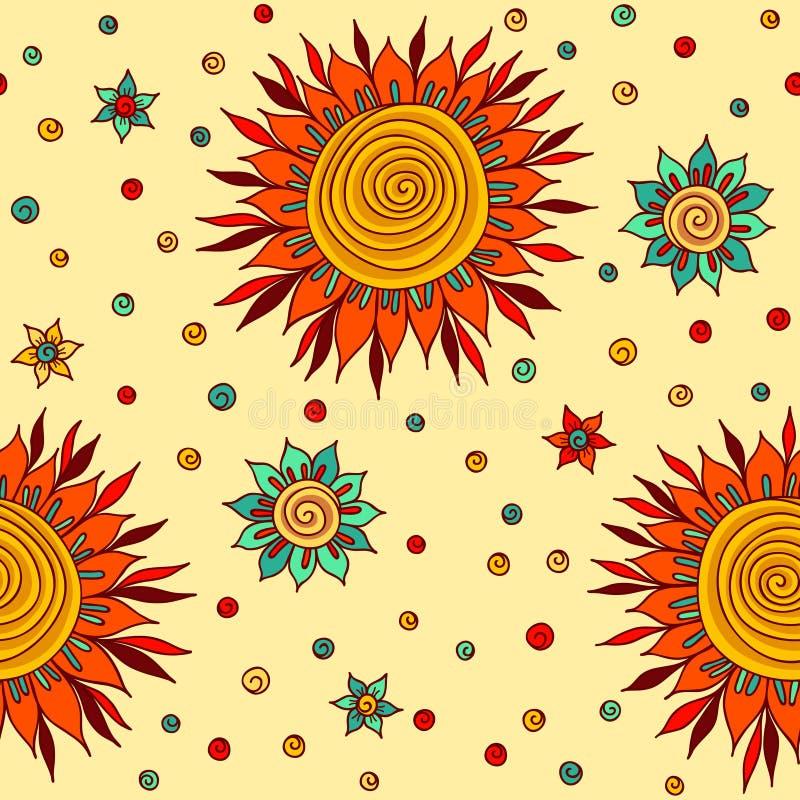 Flores de Sun ilustração stock