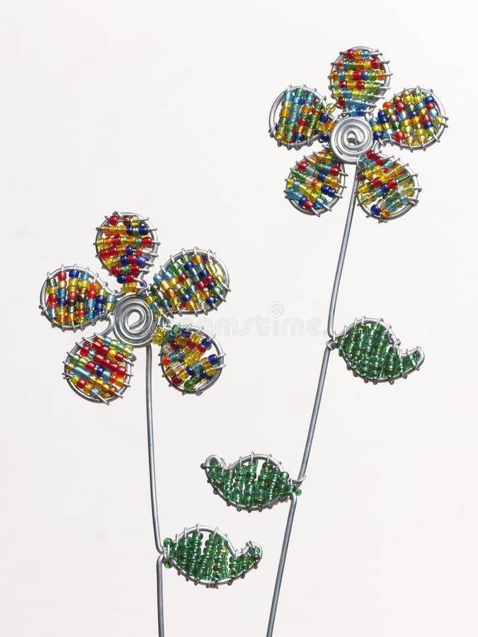 Flores del alambre fotografía de archivo