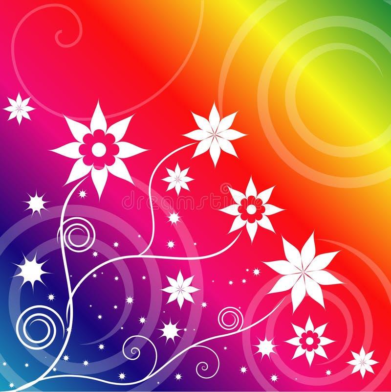 Flores del arco iris stock de ilustración