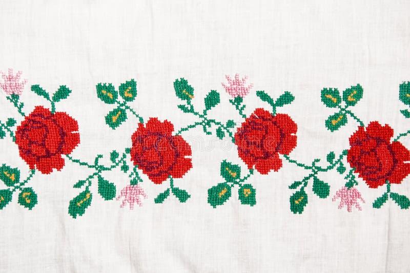 Flores del bordado fotografía de archivo libre de regalías