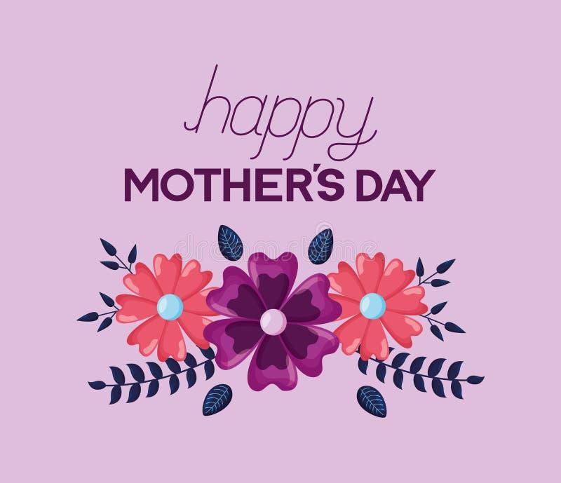 Flores del d?a de madres stock de ilustración