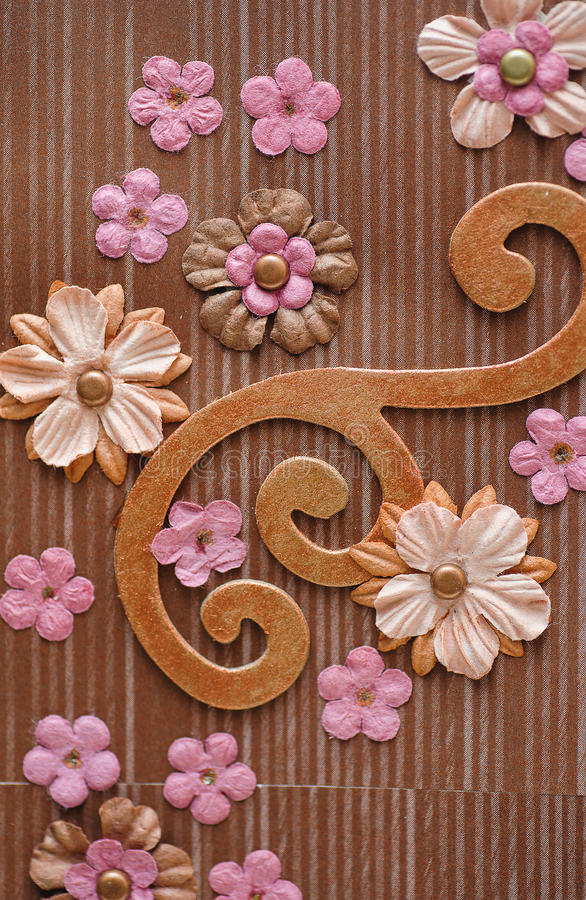 Flores del fondo scrapbooking imagen de archivo
