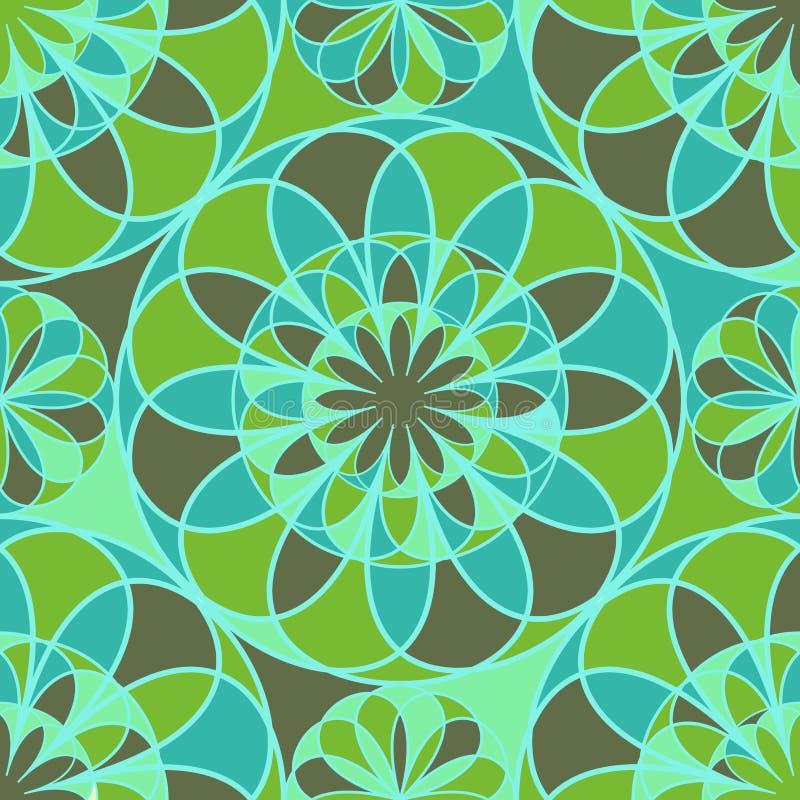 Flores del mosaico ilustración del vector. Ilustración de extracto ...