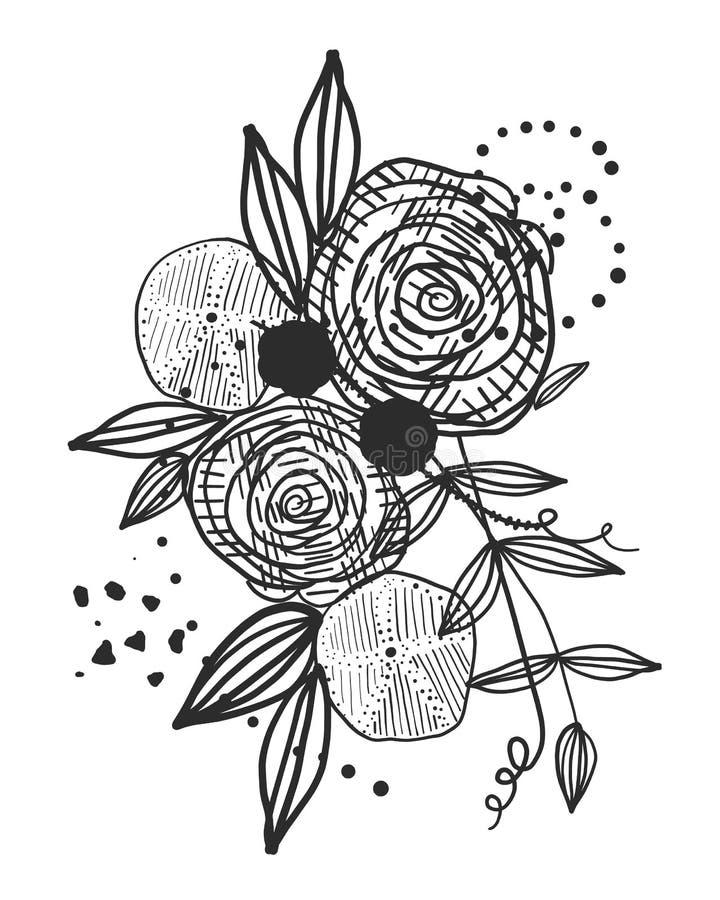 Flores Del Negro Del Extracto Del Tiempo De Verano Naturetheme Flor ...