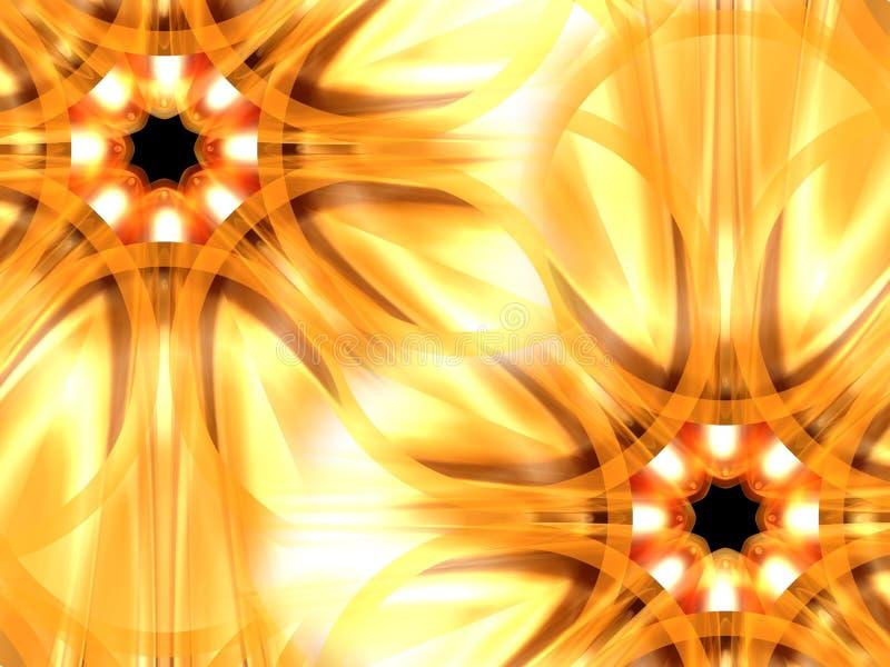Flores del oro stock de ilustración