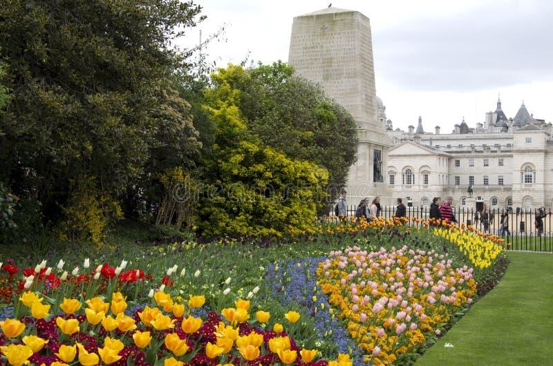 Flores del St James Park London Spring imagen de archivo