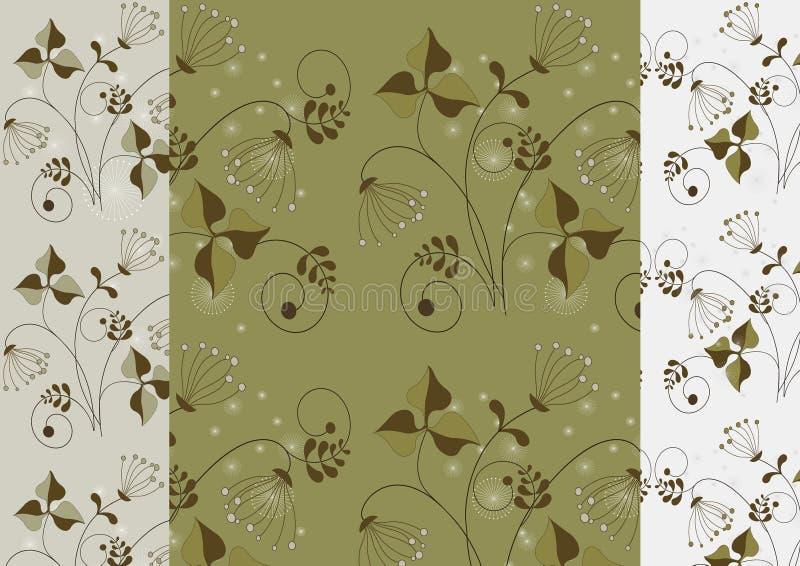 Flores delicadas em um fundo claro sem emenda ilustração royalty free