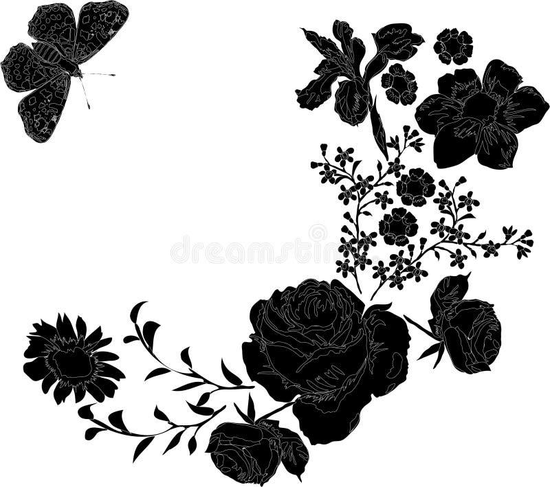 flores diferentes ilustração do vetor
