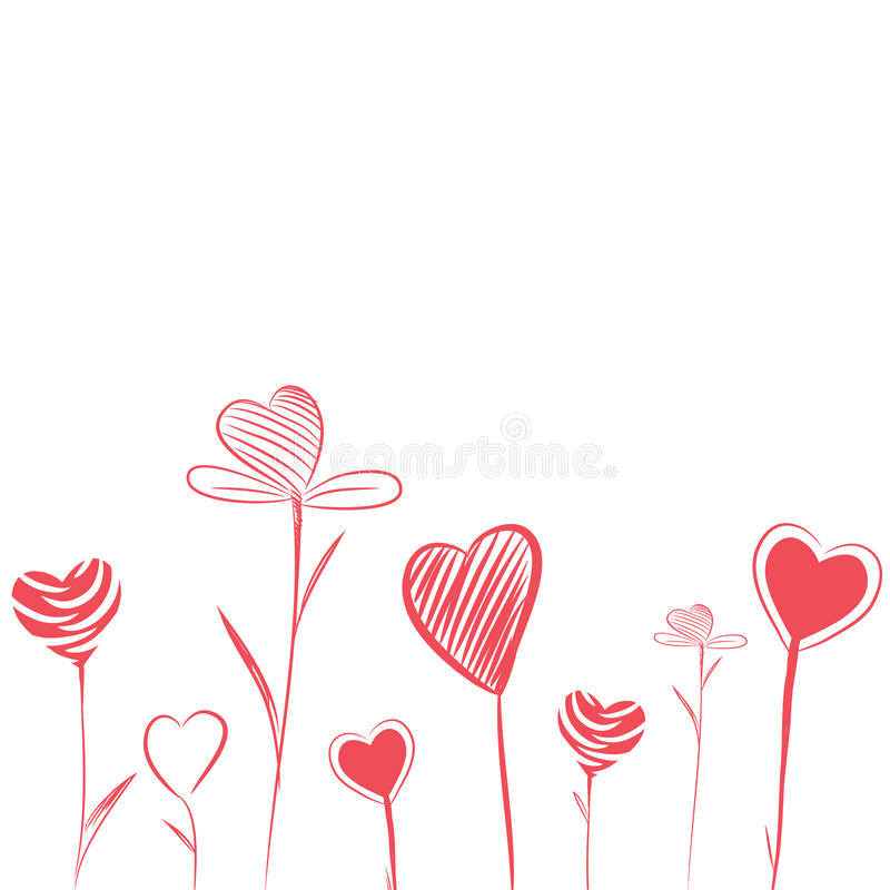 Flores do amor ilustração stock