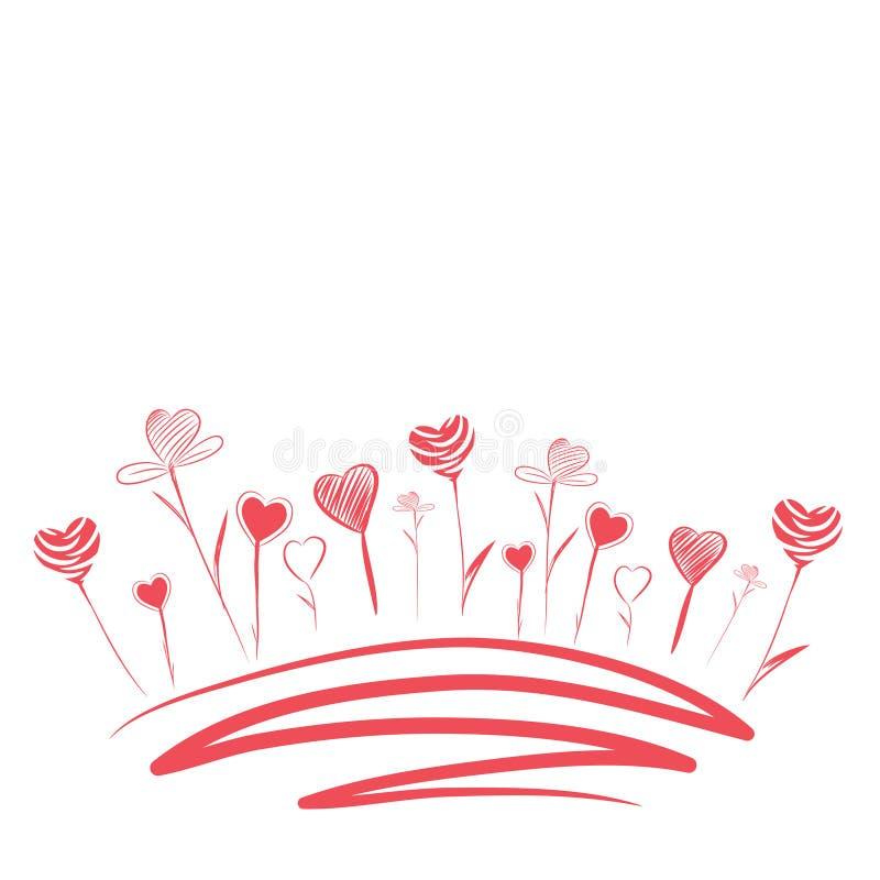 Flores do amor ilustração royalty free