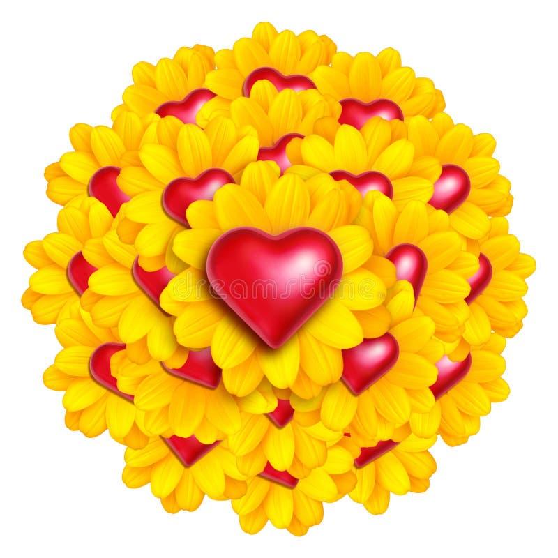 Flores do coração foto de stock royalty free