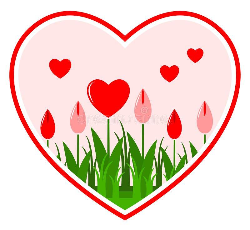 Flores do coração no coração