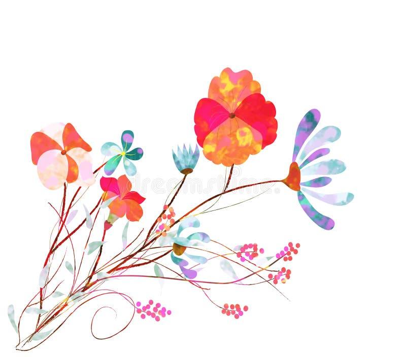 Flores do cosmos ilustração royalty free