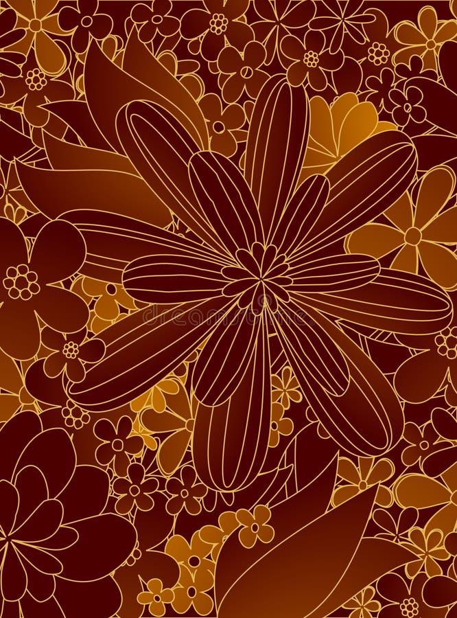 Flores do desenho ilustração do vetor