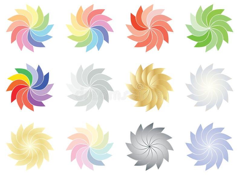 Flores do espectro e da cor ilustração royalty free