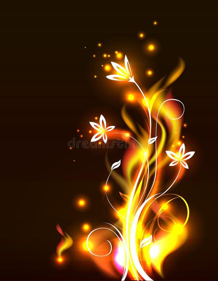 Flores do incêndio ilustração stock