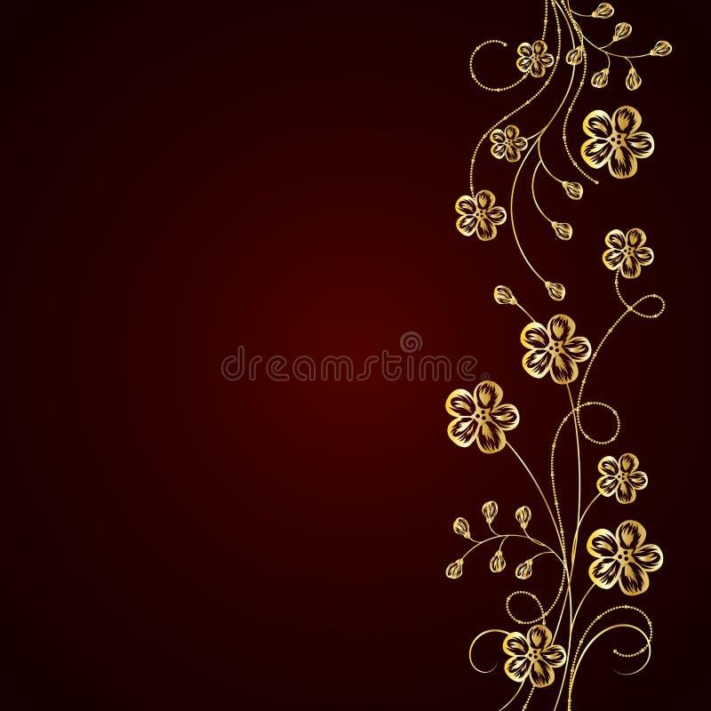 Flores do ouro com sombra no fundo escuro ilustração royalty free