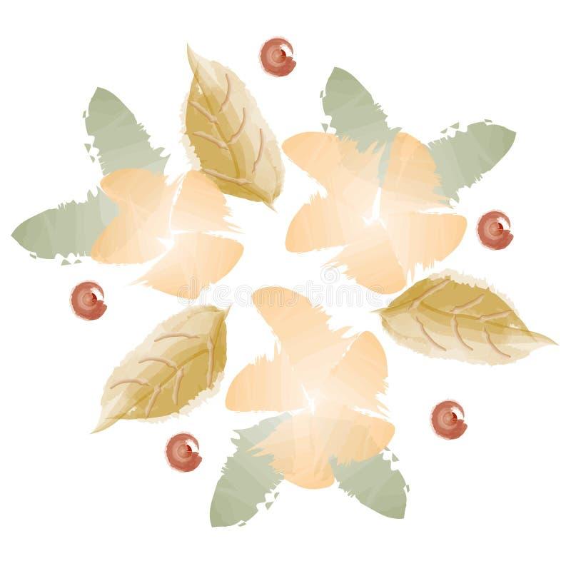 Flores do outono da aquarela fotos de stock