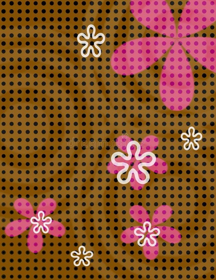 Flores do ponto de polca ilustração royalty free