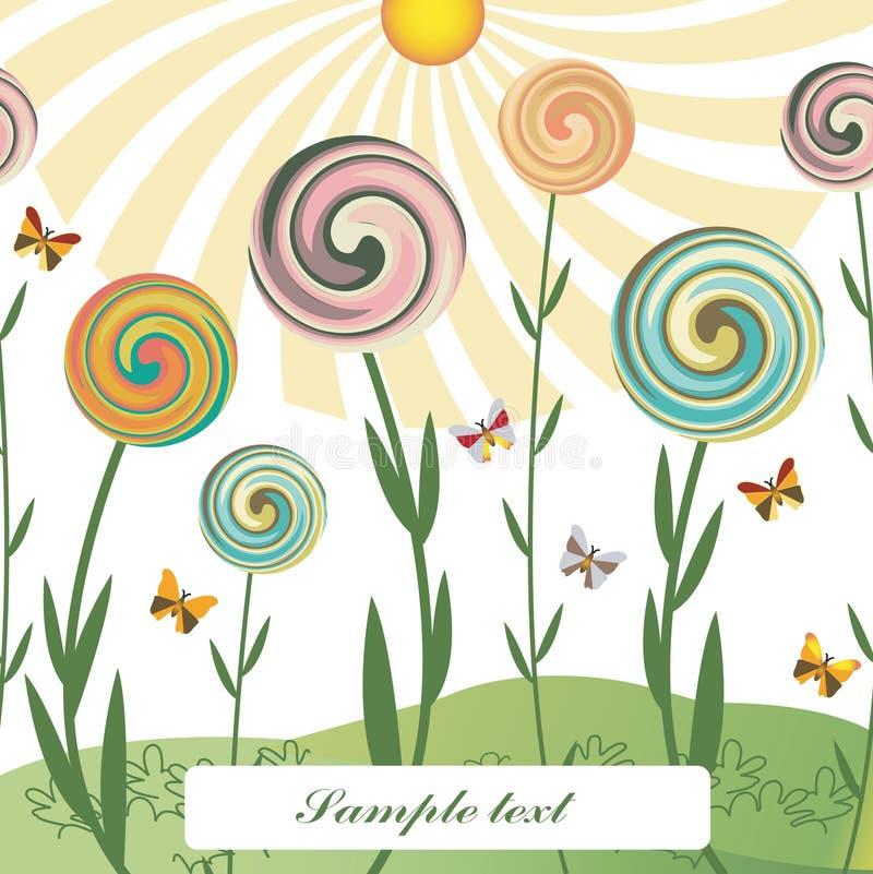 Flores do redemoinho ilustração stock