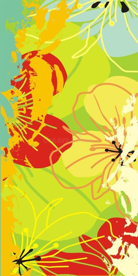 Flores do teste padrão ilustração do vetor