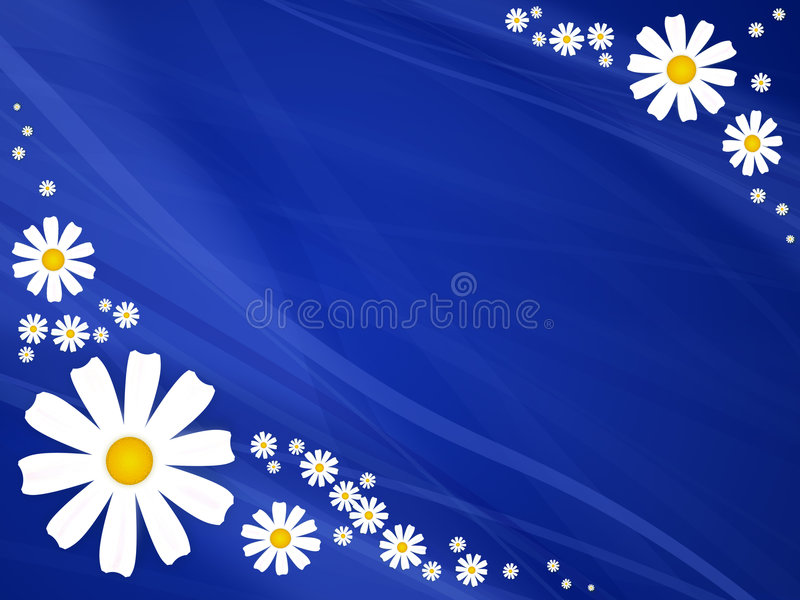 Flores do verão no azul ilustração stock
